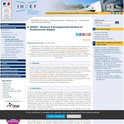 SEGPA - Sections d'Enseignement Général et Professionnel Adapté