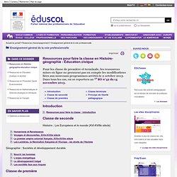 Enseignement général de la voie professionnelle - Ressources en Histoire-géographie-éducation civique