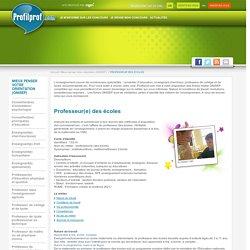 Fiches ONISEP – Les métiers de l'enseignement l Profilprof.com