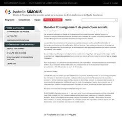 Isabelle SIMONIS - Ministre de l'Enseignement de promotion sociale, de la Jeunesse, des Droits des femmes et de l'Egalité des chances