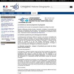 Histoire-Géographie-Lyon - L'enseignement d'une géographie prospective des territoires dans l'académie de Lyon