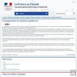 Enseignement en système québécois