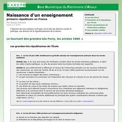 Naissance d'un enseignement primaire républicain en France