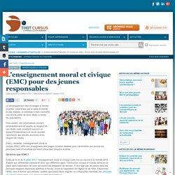 L'enseignement moral et civique (EMC) pour des jeunes responsables