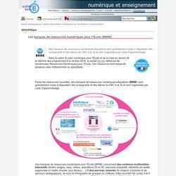 BRNE - Les banques de ressources numériques pour l'École
