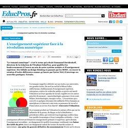 L'enseignement supérieur face à la révolution numérique