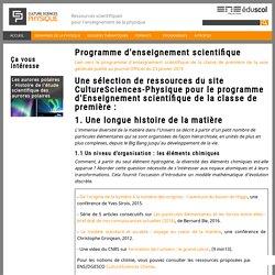 Programme d'enseignement scientifique