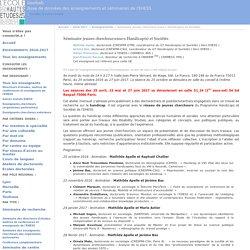 Enseignement 2016-2017 — Séminaire jeunes chercheur-euse-s Handicap(s) et Sociétés : HABU
