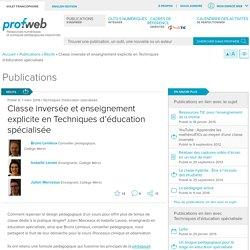 Classe inversée et enseignement explicite en Techniques d'éducation spécialisée