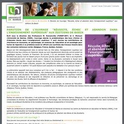 """Parution de l'ouvrage """"Réussite, échec et abandon dans l'enseignement supérieur"""" aux éditions De Boeck — UNamur"""