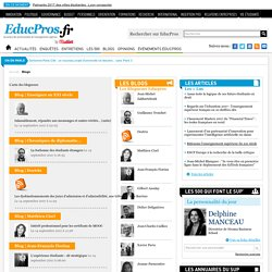 Les blogs Educpros.fr