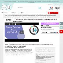 Le numérique, un facteur de mutation de l'enseignement dans le supérieur? - Ecole Normale Supérieure de Lyon