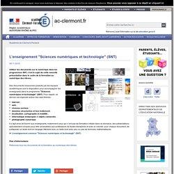 """L'enseignement """"Sciences numériques et technologie"""" (SNT)"""