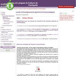 [Lettres et Langues & Culture de l'Antiquité] Lycée d'enseignement général et technologique