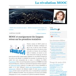 MOOC et enseignement des langues: retour sur les premières tentatives