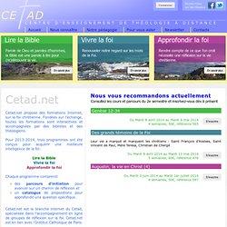 - CETADNET - Centre d'Enseignement de Théologie A Distance