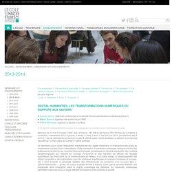 Digital Humanities. Les transformations numériques du rapport aux savoirs