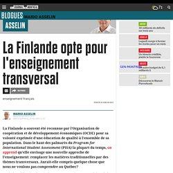 La Finlande opte pour l'enseignement transversal