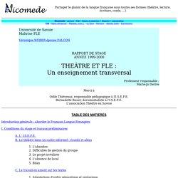 Nicomede : Théâtre et FLE, un enseignement transversal