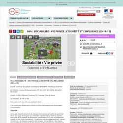 CanalU identité et influence conférence d'Hervé Le Crosnier