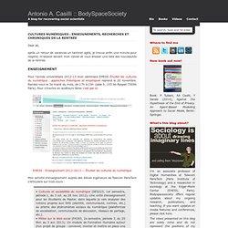 Cultures numériques : enseignements, recherches et chroniques de la rentrée