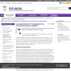 Colloque « Pour une refondation des enseignements de communication des organisations » - La psychologie de l'engagement ou l'art d'obtenir sans imposer