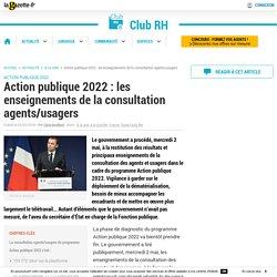 Action publique 2022 : les enseignements de la consultation agents/usagers