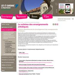 Le schéma des enseignements artistiques - Conseil départemental de Lot et Garonne