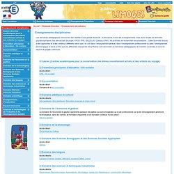 Enseignements disciplinaires (académie Limoges)