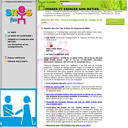 Site du SNESPENSER ET EXERCER SON METIER Nos métiers - Nos disciplines - Nos statuts