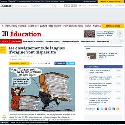 Les enseignements de langues d'origine vont disparaître