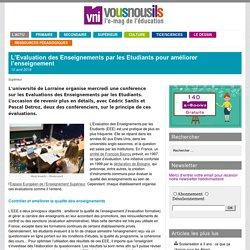 L'Evaluation des Enseignements par les Etudiants pour améliorer l'enseignement