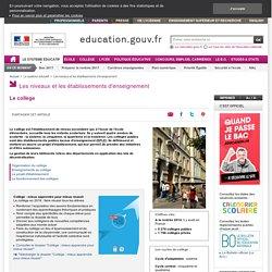 Le collège : enseignements, organisation et fonctionnement