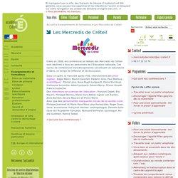 Les Mercredis de Créteil - rubrique 'Enseignementset formations'