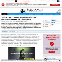 TAFTA: cinq premiers enseignements des documents révélés par Greenpeace