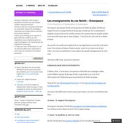 Les enseignements du cas Nestlé – Greenpeace « internet et opini