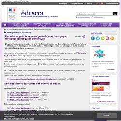 Enseignements d'exploration - Ressources méthodes et pratiques scientifiques