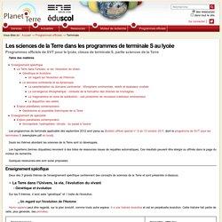 Planet-Terre : programme Tle S