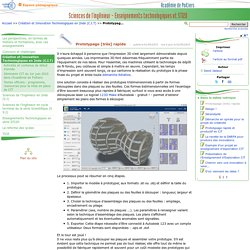 Prototypage [très] rapide- Sciences de l'ingénieur - Enseignements technologiques et STI2D
