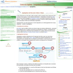 Agrégation de flux avec Yahoo ! Pipes- Sciences de l'ingénieur - Enseignements technologiques et STI2D