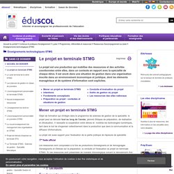 Enseignements technologiques STMG - Le projet en terminale STMG