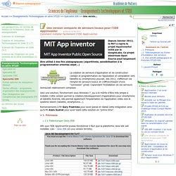 Une version compacte de serveurs locaux pour l'IDE AppInventor - Sciences de l'ingénieur - Enseignements technologiques et STI2D