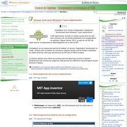 Serveur local sous Windows 7 pour AppInventor - Sciences de l'ingénieur - Enseignements technologiques et STI2D