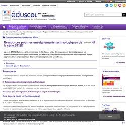 Enseignements technologiques STI2D - Ressources technologiques STI2D