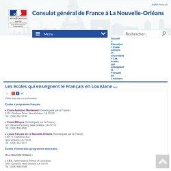 Les écoles qui enseignent le Français en Louisiane - Consulat Général de France à la Nouvelle-Orléans