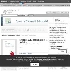 Enseigner et apprendre avec le numérique - Chapitre 2. Le numérique et la réussite scolaire - Presses de l'Université de Montréal