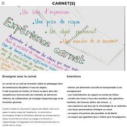 Enseigner avec le carnet - CARNET(S)