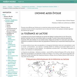Enseigner Classification Evolution (ECEV): L'homme aussi évolue