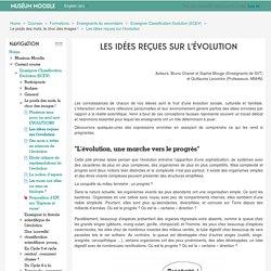 Enseigner Classification Evolution (ECEV): Les idées reçues sur l'évolution