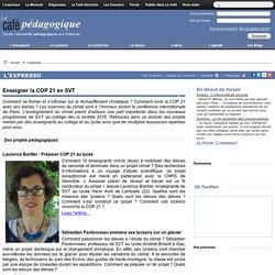 Enseigner la COP 21 en SVT